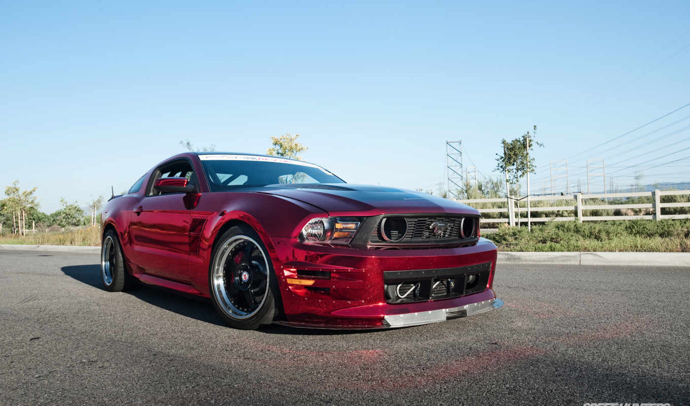 muscle, кар, ford, mustang, red,