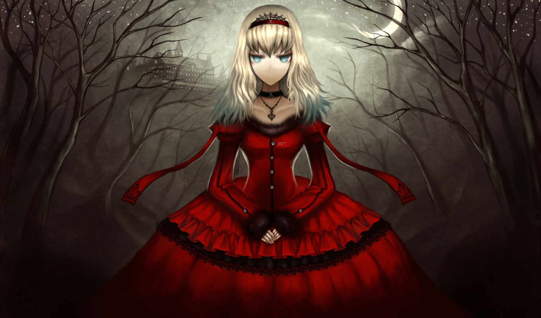 anime, девушка, gothic, взгляд, devushki,
