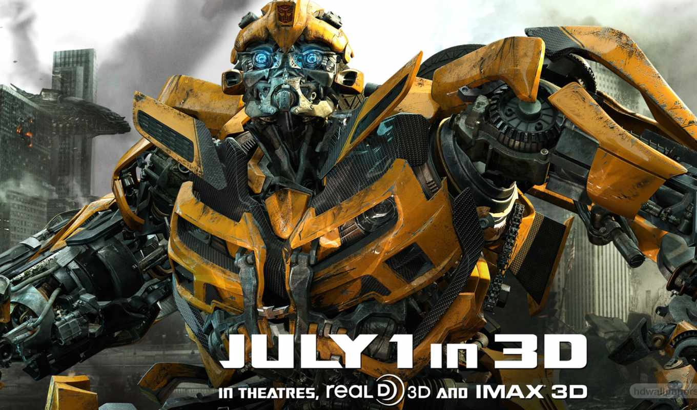 transformers, луна, dark, movie, side, плакат, трансформеры, dual, монитор,
