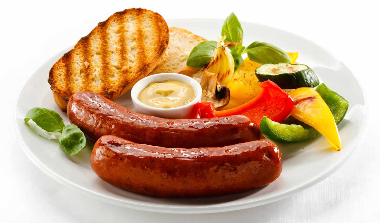 сосиски, обои, еда, овощи, соус, фото, хлеб, завтр