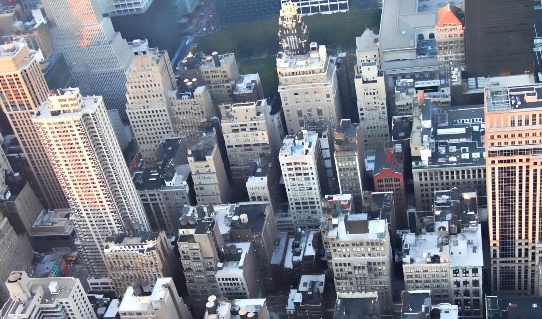 высоты, полёта, птичьего, мегаполис, город, городами, вид,