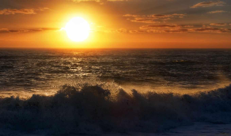 море, закат, небо, surf,