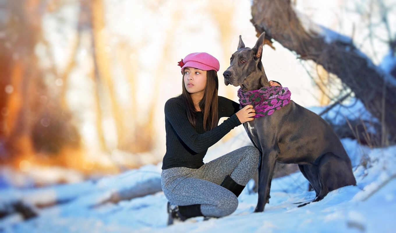 собака, девушка, природа, настроение, tapety, разное, tapet
