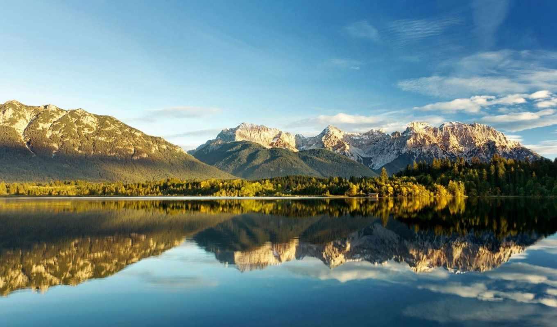 йѕл, blue, sven, оёгаwin, облака, ъцѕ, горы, озеро, деревья,
