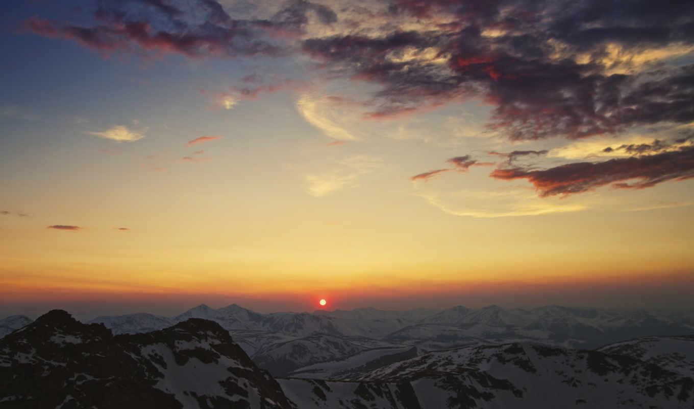 закат, горы, sun, облака, кордильеры, national, taroko, флот, china,