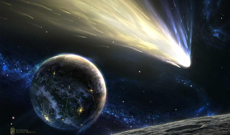 картинка, vol, stars, background, download, космос, звезды, ecran, flying, планета, земля, fonds, hintergrundbilder, астероид, хвост, комета, kometen, comète,