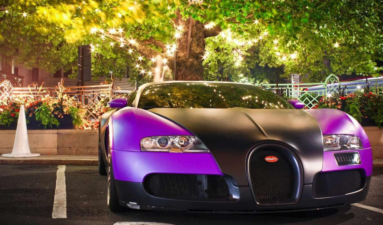 bugatti, veyron, purple, black,