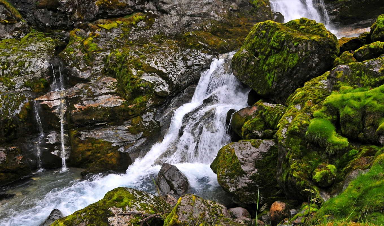 водопады, водопад, природа,