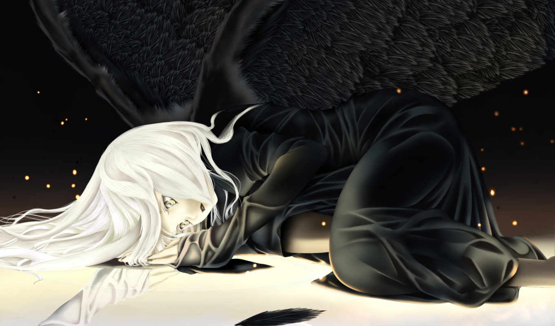 angel, anime, девушка, категории, крылья,
