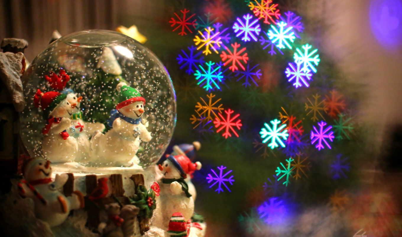 new, год, новогодние, снеговики,