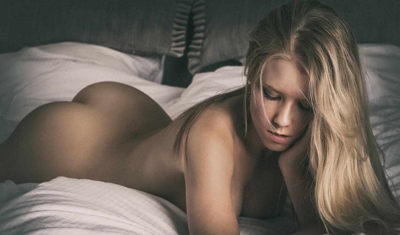 блондинка, девушка, голая, лежит, mellanie, villefrance, danish, скучать, блонд, эротика
