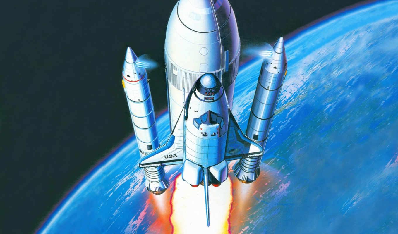 ракета, космос, корабли, shuttle, корабль, космические, солнечной, academy, revell,