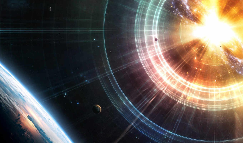 космос, planets, bang, stars, планеты, land, звезды, свет, earth,