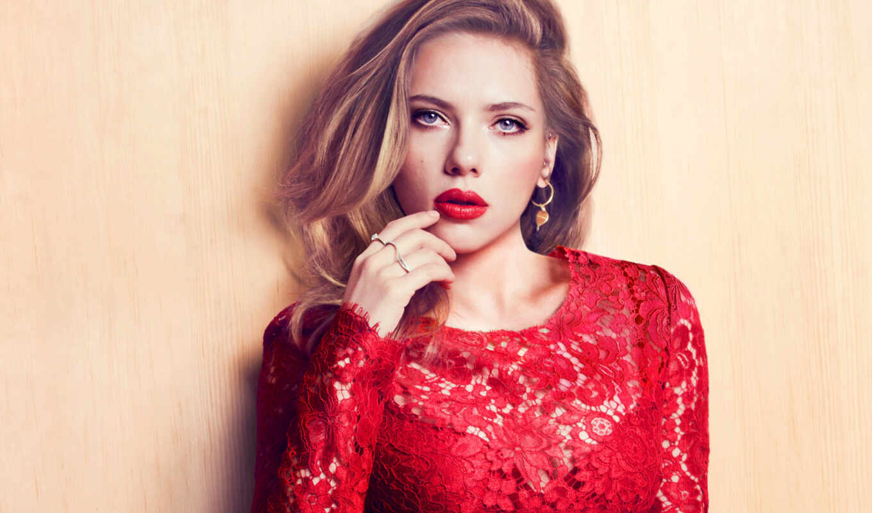 платье, красном, девушка, blonde, йоханссон, скарлетт, актриса, красное, pinterest, hairstyle,