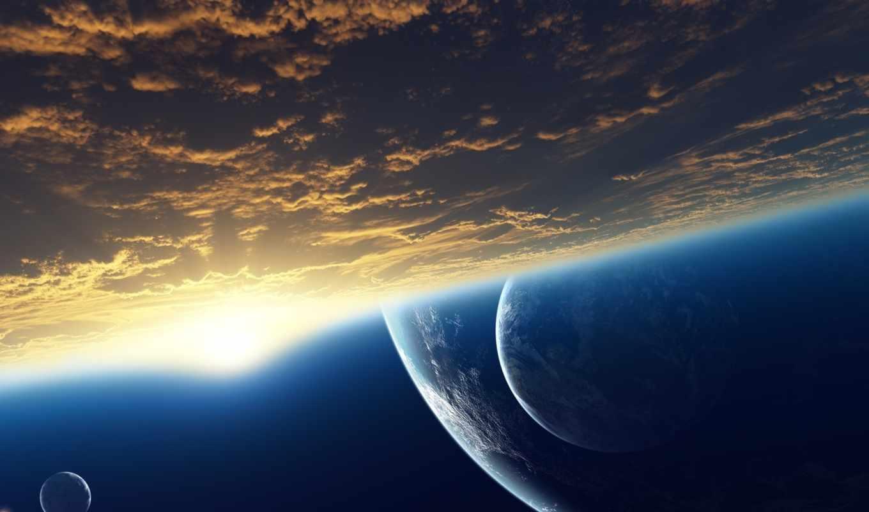 космос, атмосфера, космические, планеты,