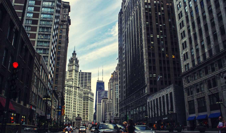chicago, usa, america, иллинойс, центр,