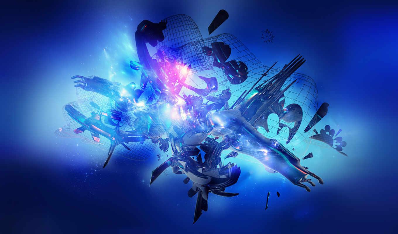 цвете, blue, заставки, синем, настроение, красивые, абстрактные, color, очень, февр, ну,