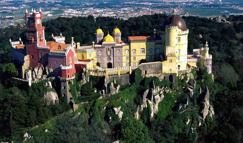 sintr, gorod, sintra, ekskursiya, park, portugaliya, lissabon, natural, дворец, cascais, dostoprimechatelnost