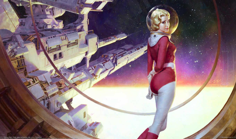 космос, art, фантастика, science, scus, artwork, астронавт
