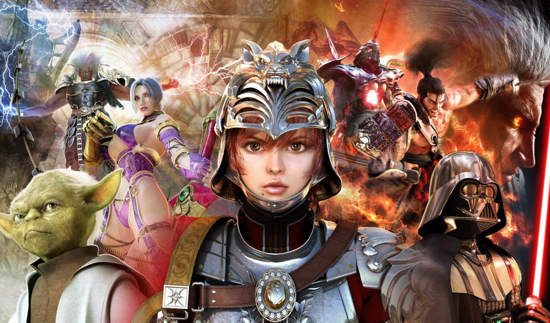 games, soulcalibur, игры, calibur, soul, game, видео, компьютерные, star, wars,