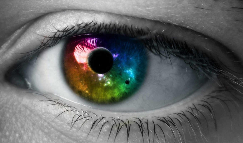 глаз, зрачок, красиво, планета, космос, an, web, eyes, цвет, you, with, universe, this,