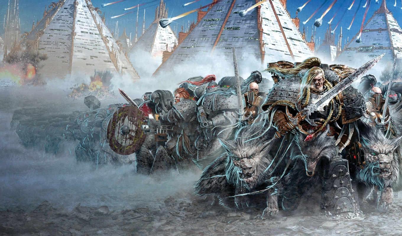 warhammer, космос, wolves, нов, космодесант, marines,