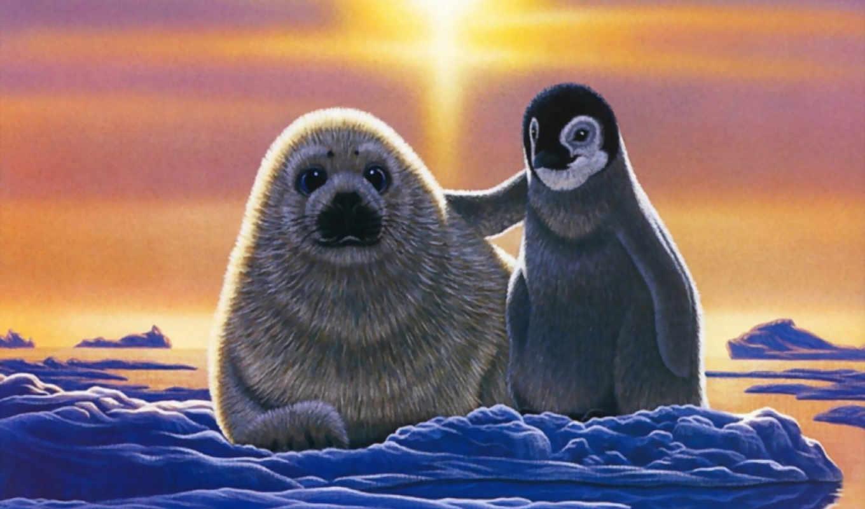 рисунки, пингвины, клипарт, zhivotnye, пингвин, животных, смайлики, фотографий,