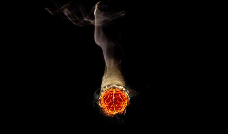 fantasy, сигарета, огонь, dream, дым, мозг, art, photomanipulation, cigarettes, шпалери,