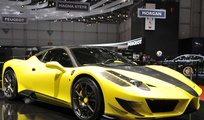 ferrari, mansory, siracusa, italia, cars, car, автомобили, желтый,