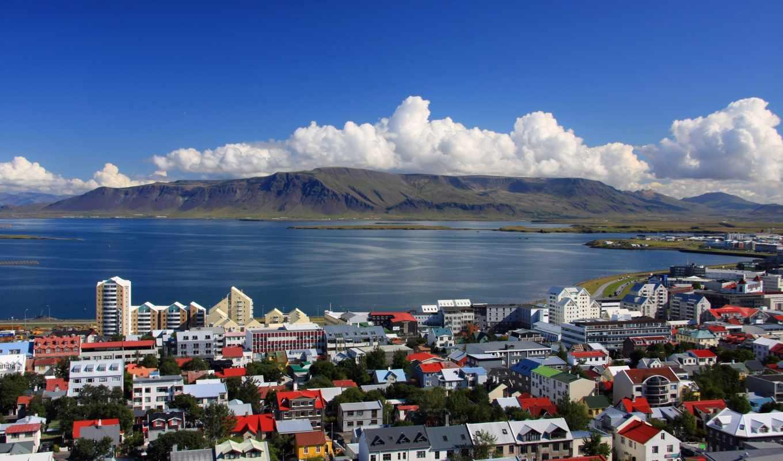 город, столица, iceland, reykjavik,