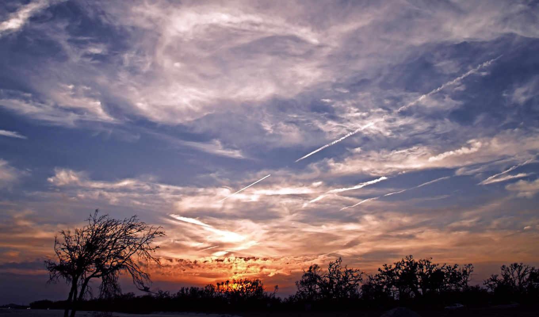 небо, облаками, красивых, подборка, облака,