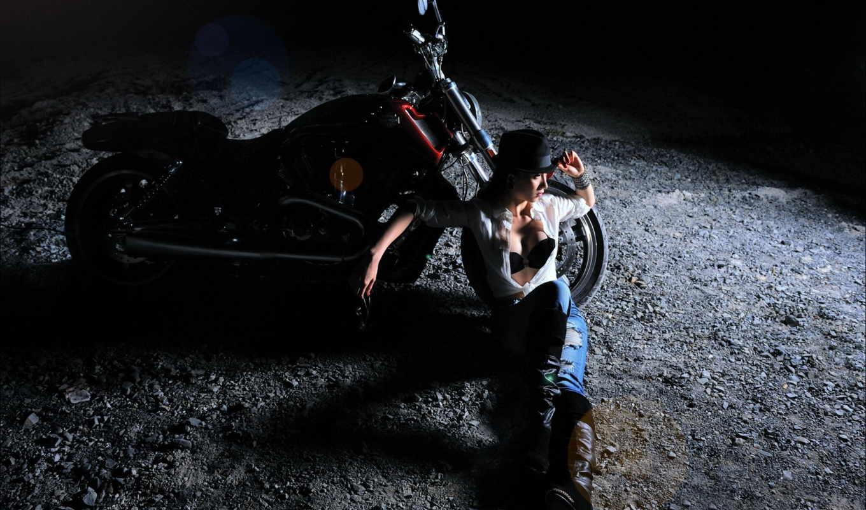 мотоцикл, ночь, sexy, девушка, pack, smartphone,