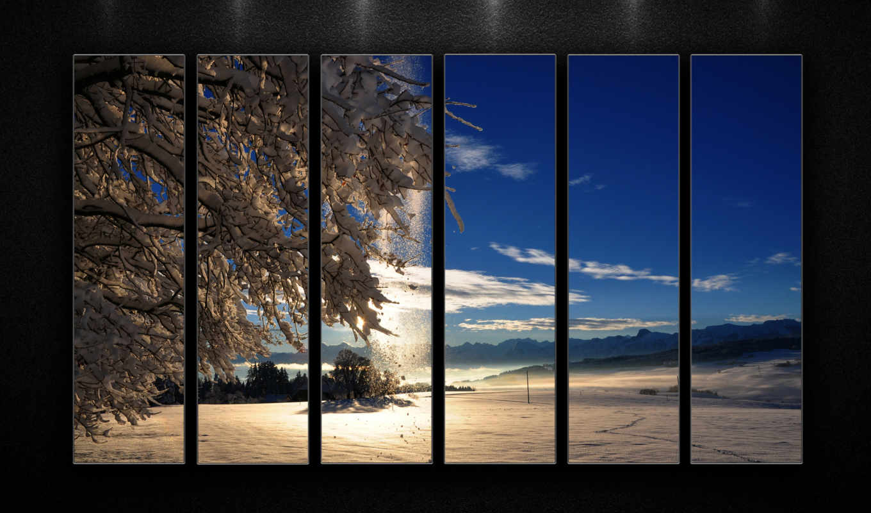 winter, красивые, свет, oblaka, подборка, sun, небо, снег,