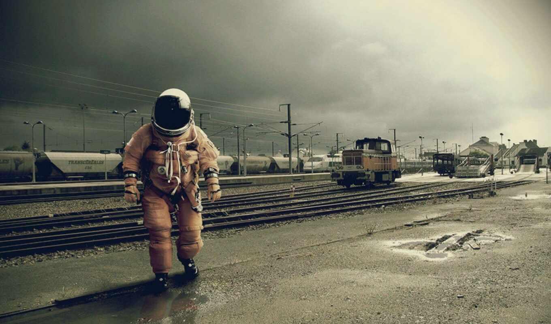 астронавт, free, art, идея
