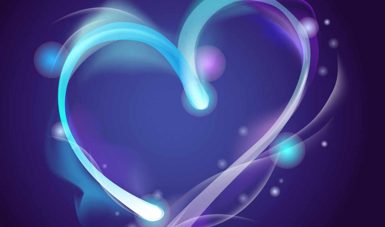 фоне, любовь, два, сердечки, сердца,