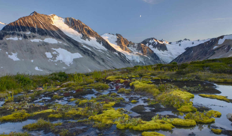 landscapes, mountain, cool, mountains, water, glacier, nature, moon, desktop, like,