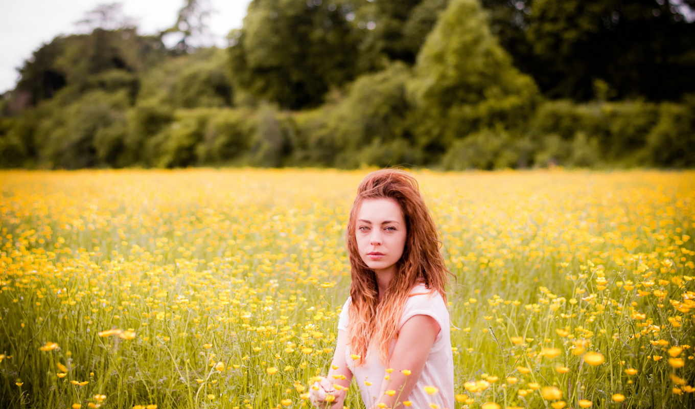 поле, девушка, summer, люди, категории,