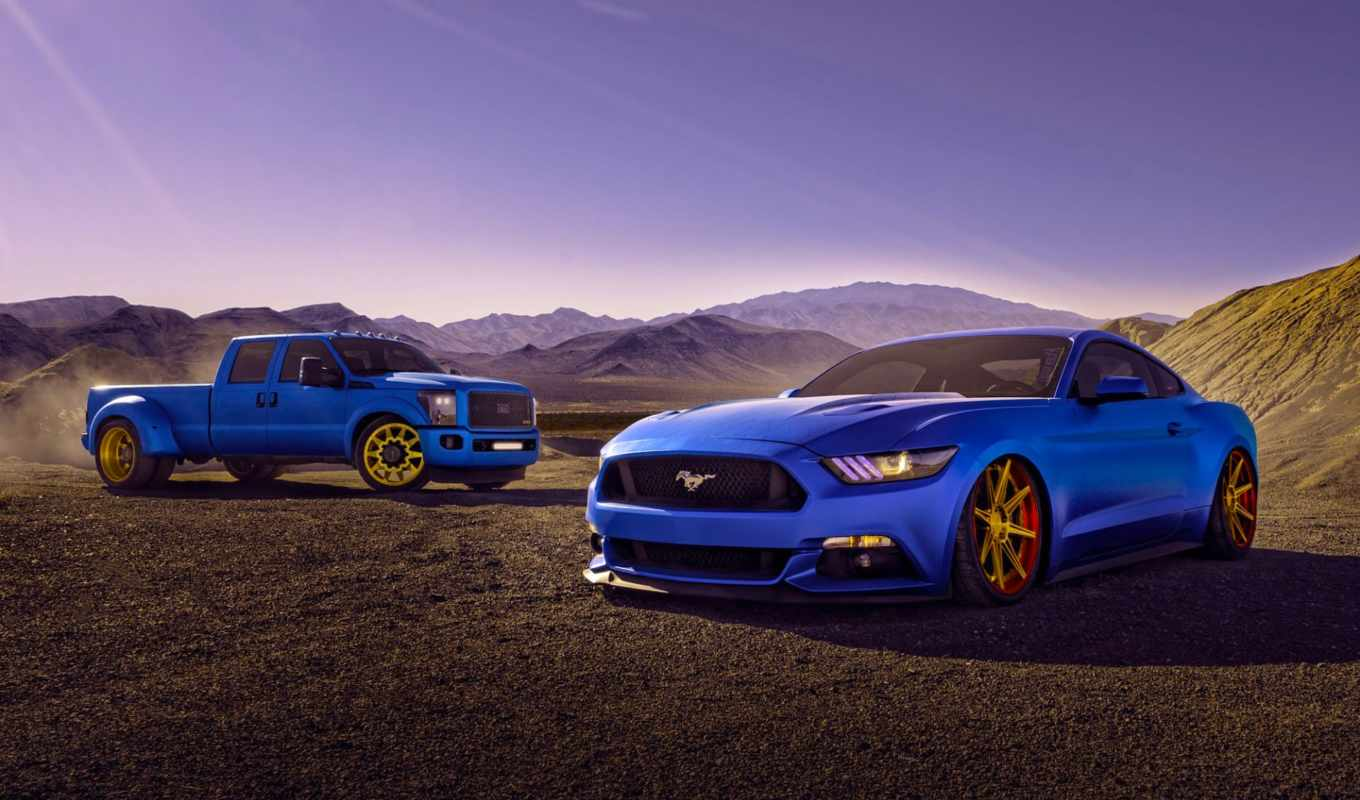 ford, car, mustang, blue,