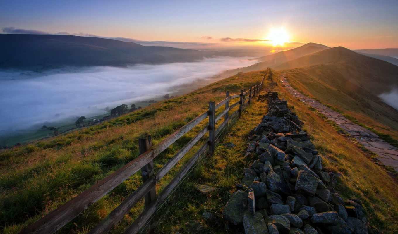 sun, rising, природа, landscape, this, дек,