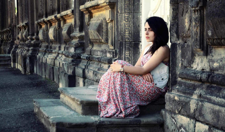 ann, armenia, girl, cover, standing, stairs, muchacha, que, coloca, desktop, facebook, escalera,
