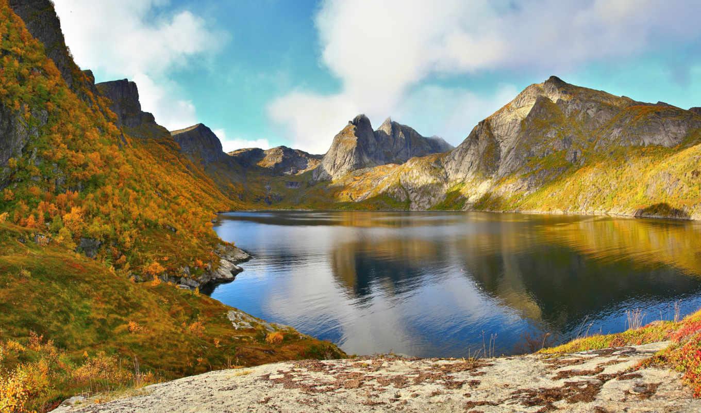 природа, горы, норвегия, природы, archipelago, lofoten,