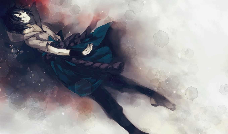 anime, art, саске, наруто,