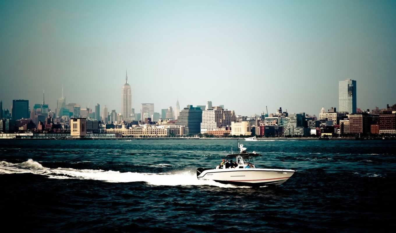 америка, йорк, нью, город, широкоформатные, new, небоскребы, сша,