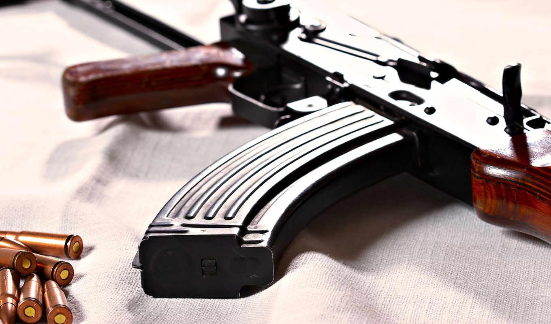 оружие, автомат, ак-47, патроны