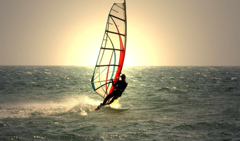 море, спорт, water, waves, мужчина, парень, sun,