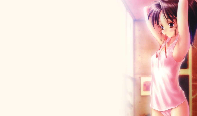 anime, аниме, wallpaper, hd, картинку, чтобы, девушка, wallpapers, код, дата, друзей, девочка, выберите, превью, завязывает, волосы,