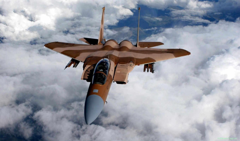 самолёт, истребитель, авиация, облака,