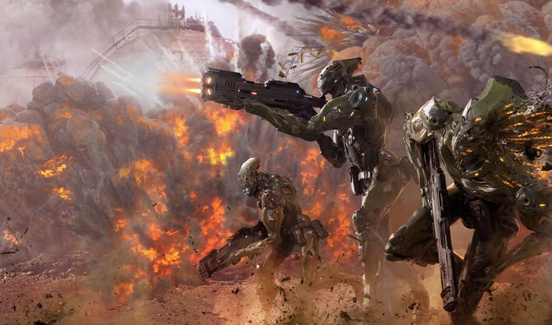 оружие, роботы, war, concept, марта, art, взрывы,