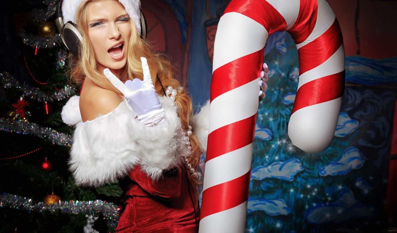 new, год, снегурочка, дек, праздник,