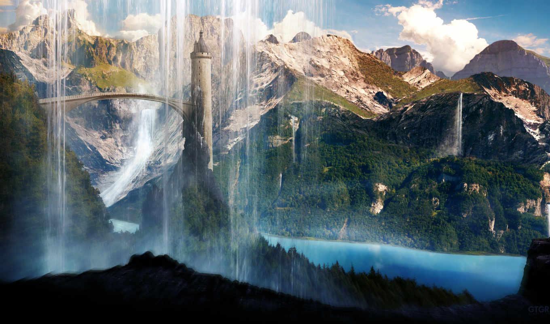 scenery, башня, город, водопад, she, янв, china, аомынь, завтавка, сидней, еще,